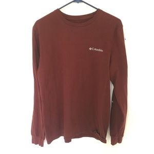 Columbia Maroon Medium Long Sleeve